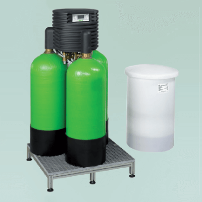 Softeners with ion exchange